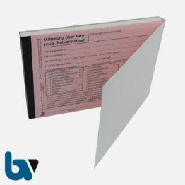 3/440-2 Mitteilung über Fahrzeugmängel Bestätigung Beseitigung FZV selbstdurchschreibend DIN A6 2-fach VS | Borgard Verlag GmbH