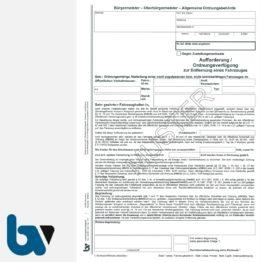 3/442-2 Aufforderung Verfügung Entfernung Fahrzeug Straßenverkehrsordnung StVO Straßengesetz HStrG HSOG Hessen selbstdurchschreibend DIN A4 3-fach VS | Borgard Verlag GmbH