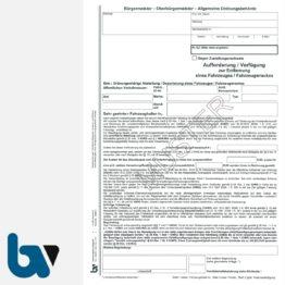 3/442-3 Aufforderung Verfügung Entfernung Fahrzeug Fahrzeugwrack Kreislaufwirtschaftsgesetz KrWG HAKrWG Hessen selbstdurchschreibend DIN A4 3-fach VS | Borgard Verlag GmbH
