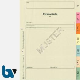 0/112-9 Personalakte Komplett Einlage Karton acht-teilig Register Seite 1 | Borgard Verlag GmbH