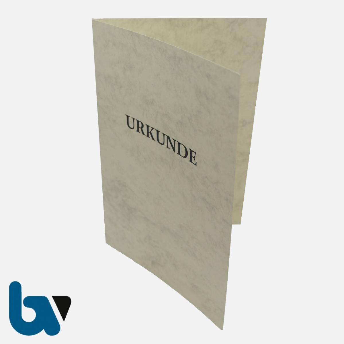 0/134-13 Urkundenhülle Creme Dokumente marmoriert Karton Aufdruck Überformat Einstecktasche Einlege DIN A4 VS 1 | Borgard Verlag GmbH