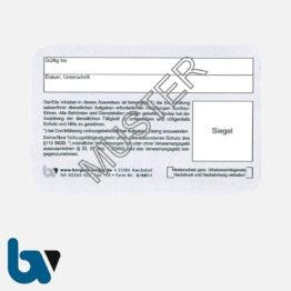 0/481-1 Dienstausweis Scheckkartenformat Karton RS | Borgard Verlag GmbH