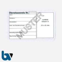 0/481-1 Dienstausweis Scheckkartenformat Karton VS | Borgard Verlag GmbH