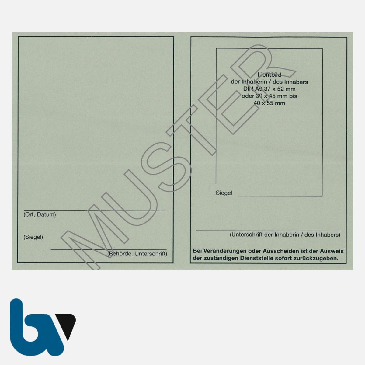 0/481-4 Dienstausweis Allgemein neutral grau Neobond DIN A6-A7 RS | Borgard Verlag GmbH