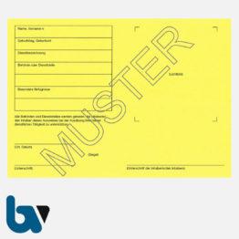 0/481-5 Dienstausweis Allgemein neutral gelb Neobond DIN A6-A7 RS | Borgard Verlag GmbH
