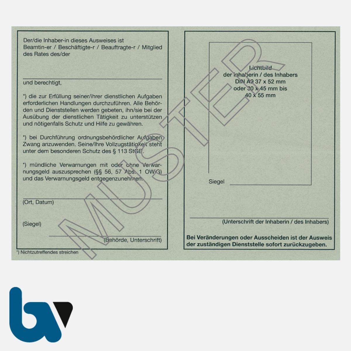 0/481-A Dienstausweis Allgemein neutral grau Strafgesetzbuch StGB Ordnungswidrigkeit Neobond DIN A6-A7 RS | Borgard Verlag GmbH