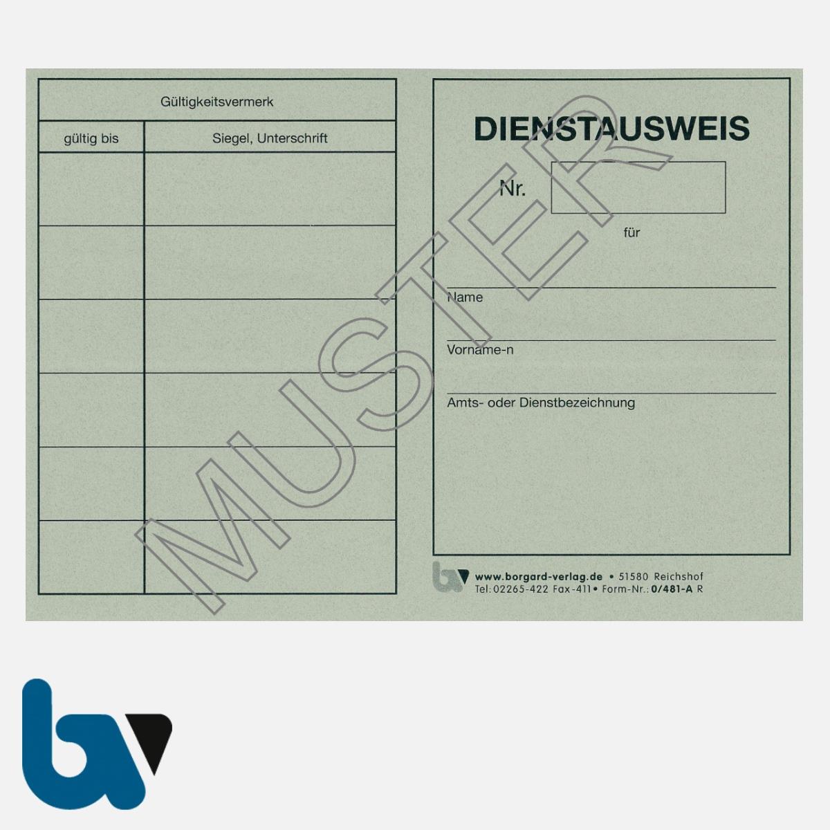 0/481-A Dienstausweis Allgemein neutral grau Strafgesetzbuch StGB Ordnungswidrigkeit Neobond DIN A6-A7 VS | Borgard Verlag GmbH