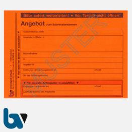 0/747-10 Angebotsaufkleber Kennzettel Submission Ausschreibung VOB VOL rot selbstklebend DIN A6 | Borgard Verlag GmbH