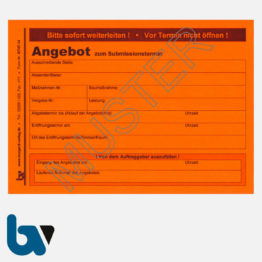 0/747-14 Angebotsaufkleber Kennzettel Ausschreibung Submission VOL VOB rot selbstklebend DIN A6 | Borgard Verlag GmbH