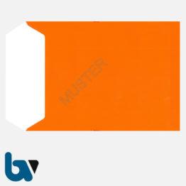 0/747-2 Angebotsumschlag Ausschreibung rot Haftklebung haftklebend Sicherheitsverschluss DIN C4 Rückseite | Borgard Verlag GmbH