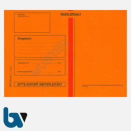 0/747-2 Angebotsumschlag Ausschreibung rot Haftklebung haftklebend Sicherheitsverschluss DIN C4 Vorderseite | Borgard Verlag GmbH