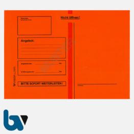 0/747-3 Angebotsumschlag Ausschreibung rot Haftklebung haftklebend Sicherheitsverschluss Faltentasche DIN B4 Vorderseite | Borgard Verlag GmbH