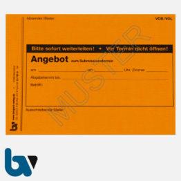 0/747-5 Angebotsaufkleber Kennzettel Ausschreibung Submission VOB VOL rot-orange selbstklebend DIN A6 | Borgard Verlag GmbH