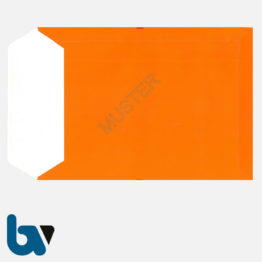 0/747-7 Angebotsumschlag Ausschreibung rot Haftklebung haftklebend Sicherheitsverschluss DIN B4 Rückseite | Borgard Verlag GmbH