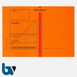 0/747-7a Angebotsumschlag Angebotskopie Ausschreibung rot Haftklebung haftklebend Sicherheitsverschluss DIN B4 Vorderseite | Borgard Verlag GmbH