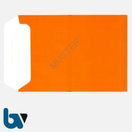 0/747-7b Angebotsumschlag Urkalkulation Ausschreibung rot Haftklebung haftklebend Sicherheitsverschluss DIN B4 Rückseite | Borgard Verlag GmbH