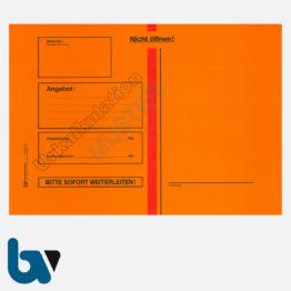 0/747-7b Angebotsumschlag Urkalkulation Ausschreibung rot Haftklebung haftklebend Sicherheitsverschluss DIN B4 Vorderseite | Borgard Verlag GmbH