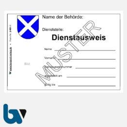 2/481-1.2 Dienstausweis kommunal Vollzugsbeamter Hilfspolizei RLP POG Neobond DIN A6 VS | Borgard Verlag GmbH