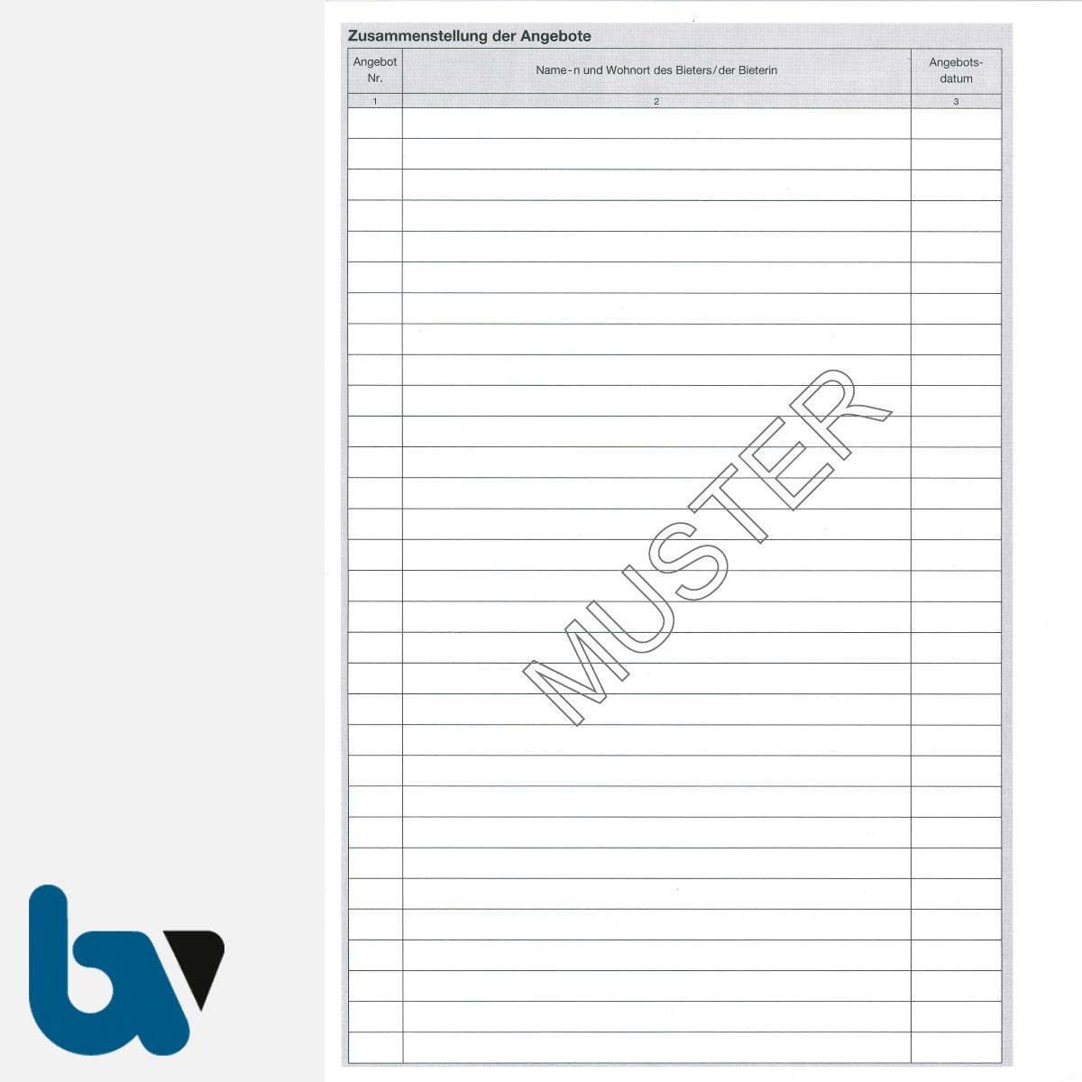 3/704-1a Verdingungsverhandlung Niederschrift Ausschreibung Submission VOB VOL Doppelbogen DIN A4 Seite 2 | Borgard Verlag GmbH
