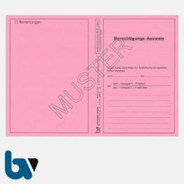0/151-3 Berechtigungs Ausweis Ausführung Gewerblich Arbeiten Friedhof Friedhöfe Verwaltung Neobond rosa DIN A5 A6 Vorderseite | Borgard Verlag GmbH