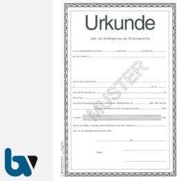 0/168-2 Urkunde Verlängerung Nutzungsrecht Wahlgrabstätte Friedhof Verwaltung 2-fach DIN A4 Vorderseite | Borgard Verlag GmbH