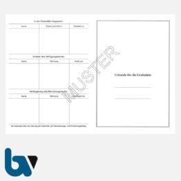 0/168-3 Urkunde Erwerb Benutzungsrecht Grabstätte Friedhof Verwaltung 2-fach DIN A4 Rückseite | Borgard Verlag GmbH