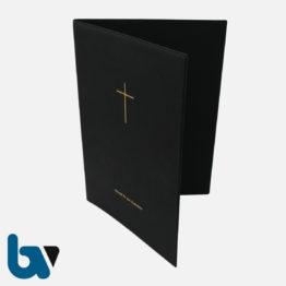 0/168-4.2 Grabstätten Urkunden Bücher mit Kreuz PVC Hülle Klemmschiene DIN A4 Außen | Borgard Verlag GmbH
