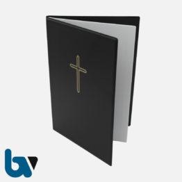 0/168-4 Grabstätten Urkunden Bücher mit Kreuz Einlage PVC Hülle Klemmschiene DIN A5 Außen | Borgard Verlag GmbH