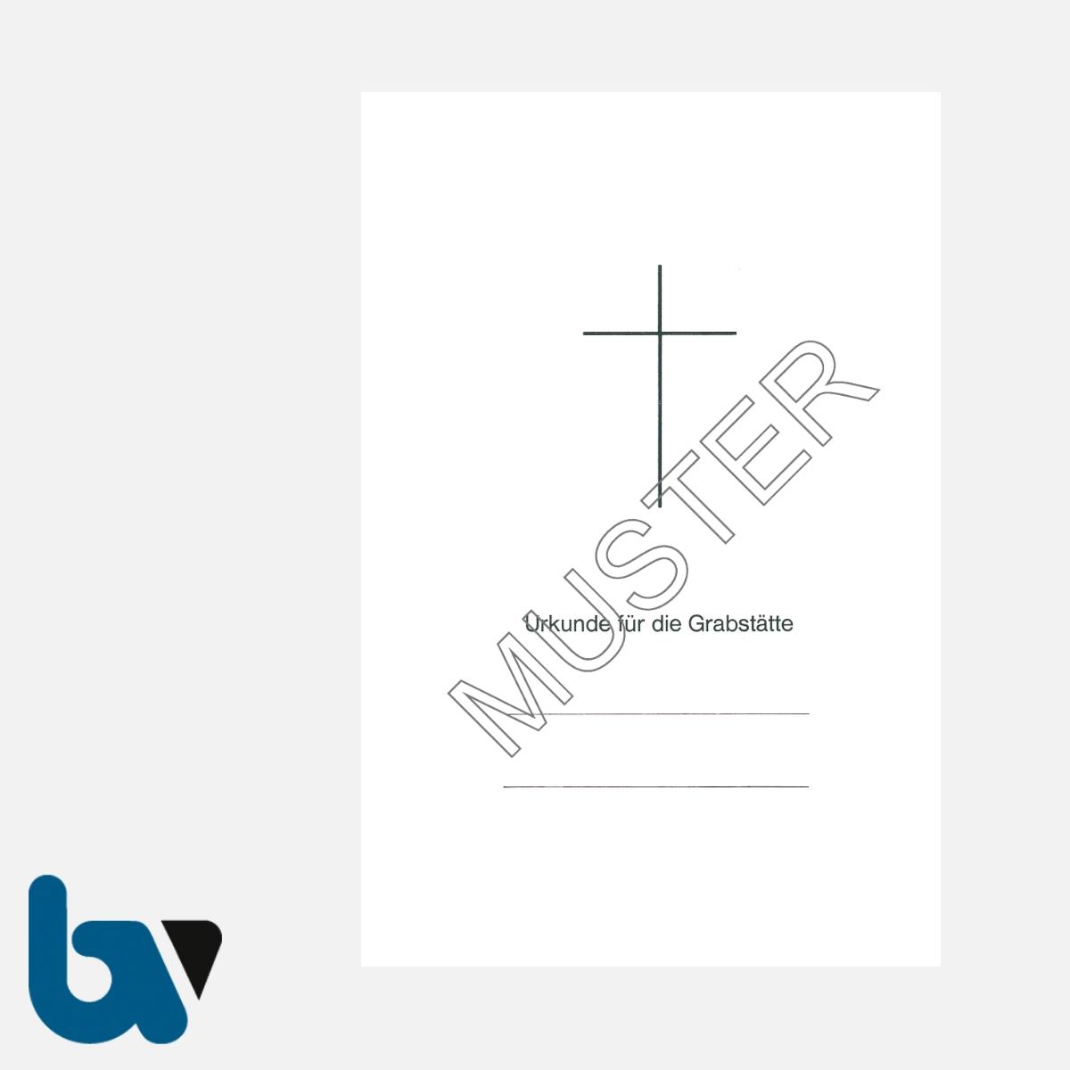 0/168-4 Grabstätten Urkunden Bücher mit Kreuz Einlage PVC Hülle Klemmschiene DIN A5 Seite 1 | Borgard Verlag GmbH