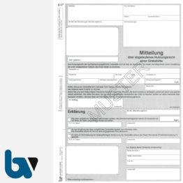 0/176-1 Mitteilung abgelaufen Nutzungsrecht Grabstätte mit Erklärung Friedhof Verwaltung 2-fach selbstdurchschreibend DIN A4 Seite 1 | Borgard Verlag GmbH