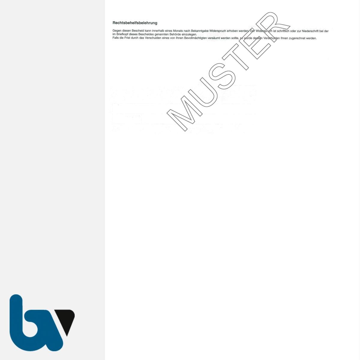 0/177-3 Genehmigung Aufstellung Grabmal Friedhof Verwaltung 3-fach selbstdurchschreibend DIN A4 Rückseite | Borgard Verlag GmbH