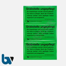 0/182-4 Grab Aufkleber Grabstelle ungepflegt Angehörige Aufforderung Pflege Friedhof Verwaltung grün PVC Folie selbstklebend   Borgard Verlag GmbH