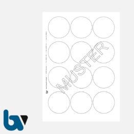 0/191-3 Verschlusssiegel Dokumentenfolie Dokumentensiegel blanko neutral rund Manipulation Sicher 40 mm Blatt 12 Stück | Borgard Verlag GmbH
