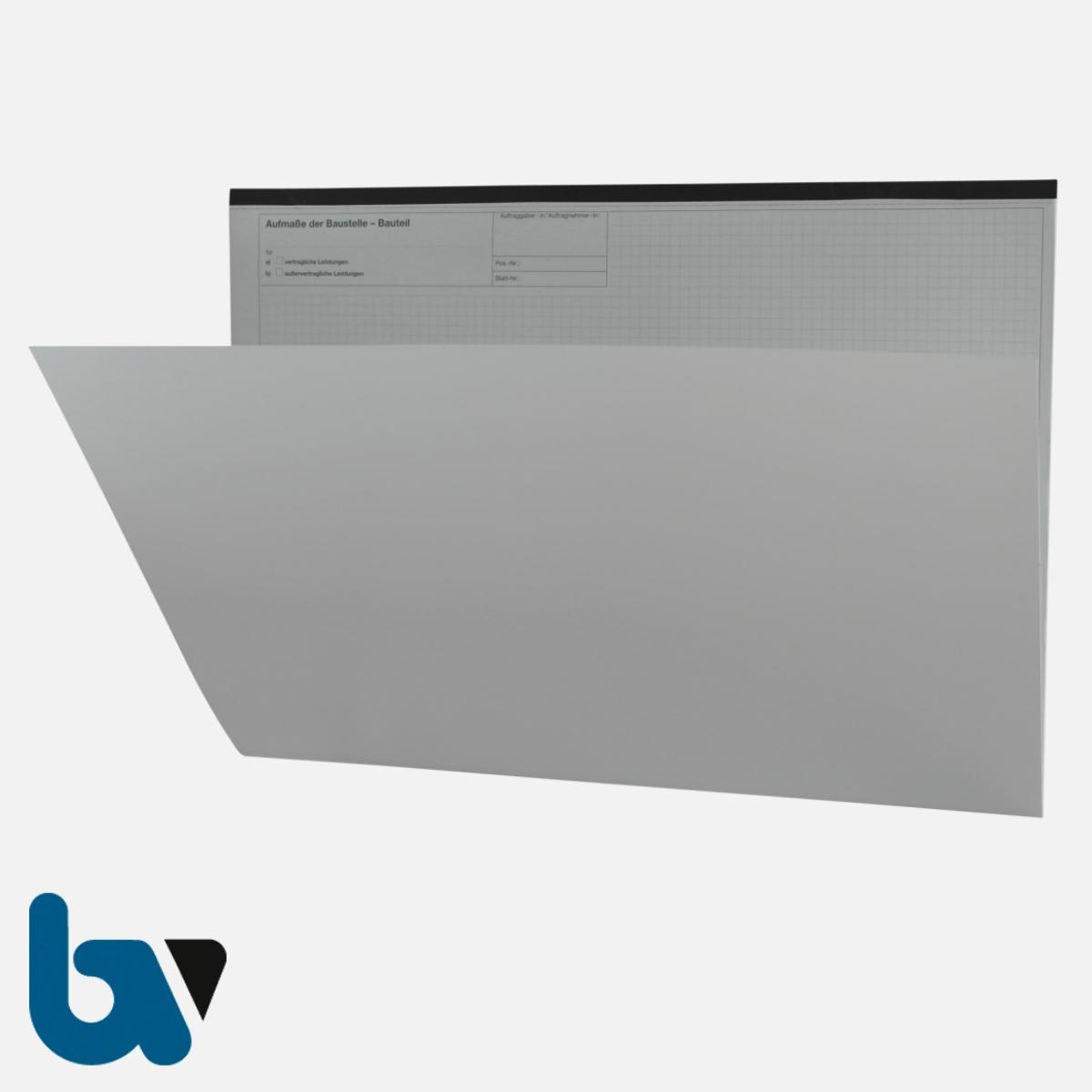 0/707-5 Bauaufmassblock Baustelle Bauteil selbstdurchschreibend Einschlagdeckel Durchschreibeschutz Schreibschutzdeckel perforiert DIN A3 Vorderseite | Borgard Verlag GmbH