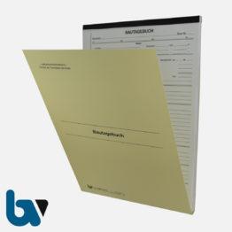 0/714-1 Bautagebuch Arbeit Gerät Baustoff Material selbstdurchschreibend Einschlagdeckel Durchschreibeschutz Schreibschutzdeckel perforiert DIN A4 Vorderseite   Borgard Verlag GmbH