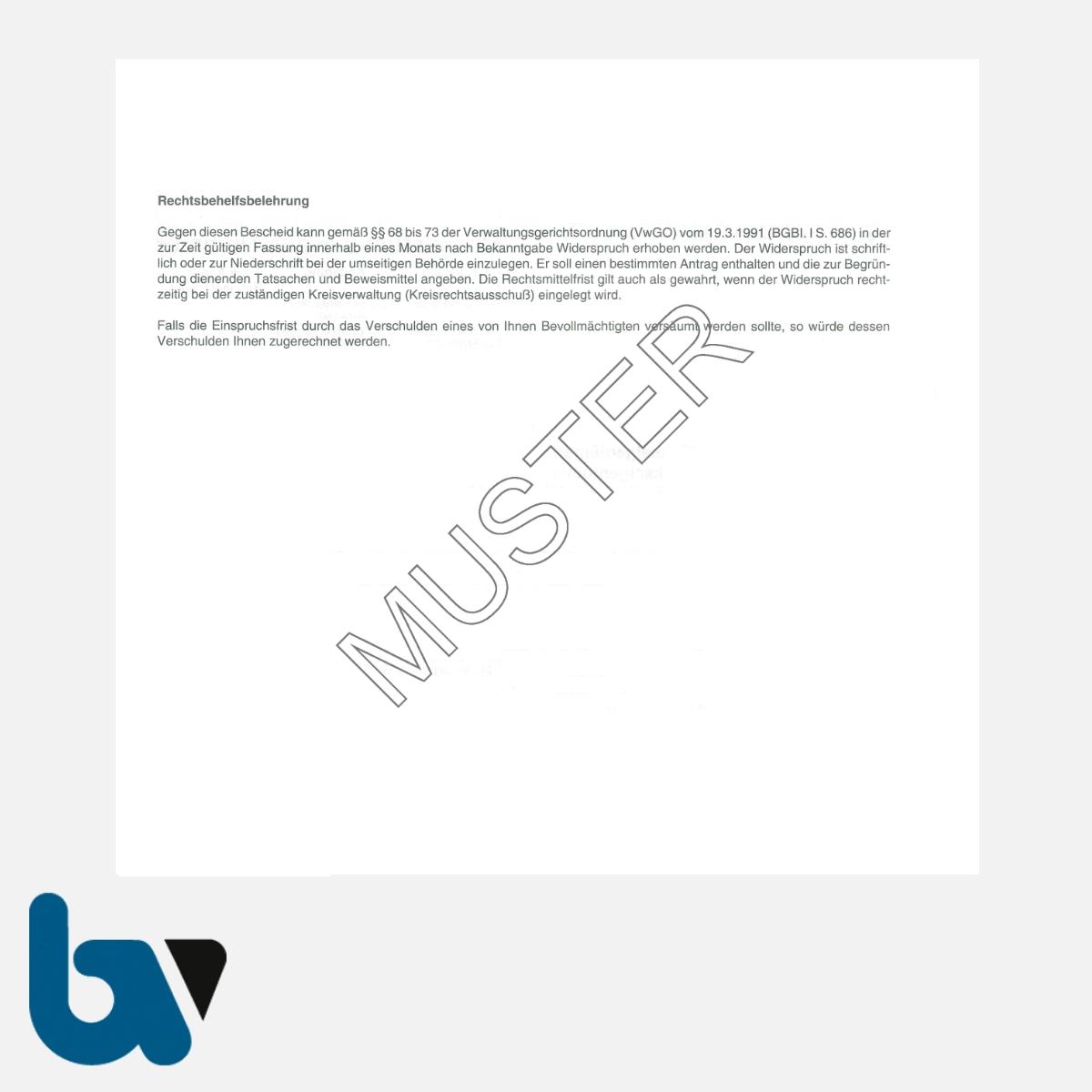 0/716-2 Grundstück Hausnummer Zuteilung Änderung §126 Baugesetzbuch selbstdurchschreibend 10-fach DIN Seite 2 | Borgard Verlag GmbH