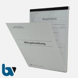 0/717-2 Mängelmeldung Fahrbahn Gehweg Kanal Verkehr selbstdurchschreibend Einschlagdeckel Durchschreibeschutz Schreibschutzdeckel perforiert DIN A5 Vorderseite   Borgard Verlag GmbH