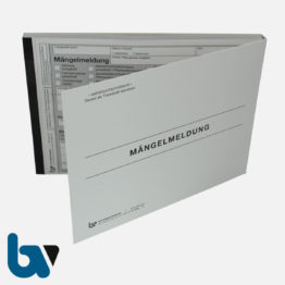 0/717-6 Mängelmeldung Fahrbahn Gehweg Kanal Verkehr selbstdurchschreibend Einschlagdeckel Durchschreibeschutz Schreibschutzdeckel perforiert DIN A5 Vorderseite   Borgard Verlag GmbH