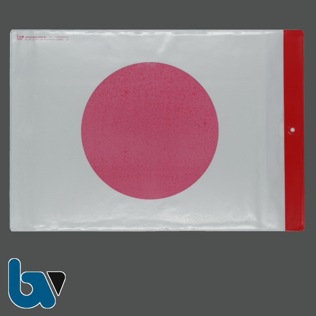 0/780-3 Schutzhülle Baustellenschild roter Punkt aufgedruckt Bauordnung Kunststoff wetterfest Loch Befestigung DIN A4 Vorderseite   Borgard Verlag GmbH