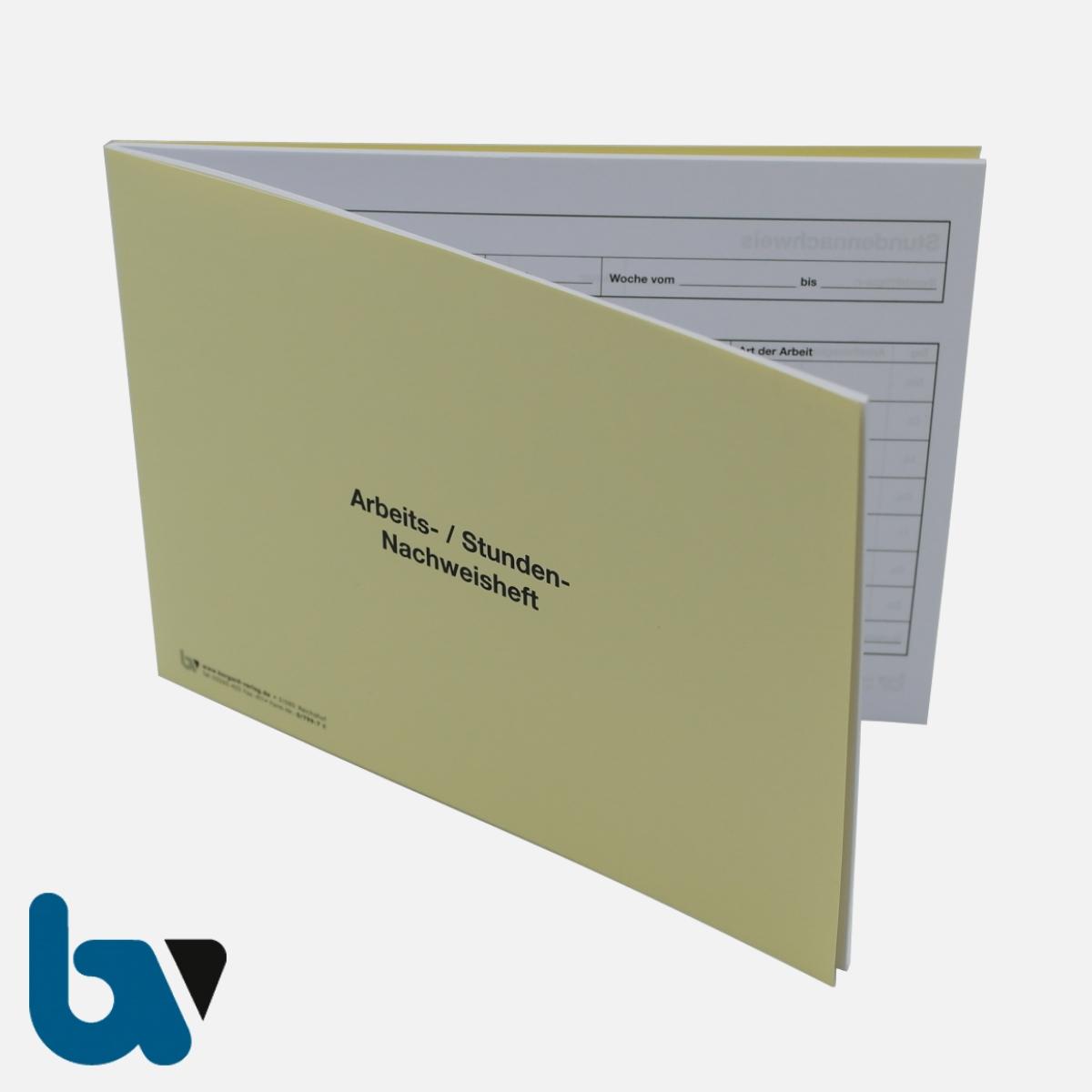 0/799-7 Stundennachweis Arbeit Wochenstunden Heft DIN A5 Vorderseite | Borgard Verlag GmbH