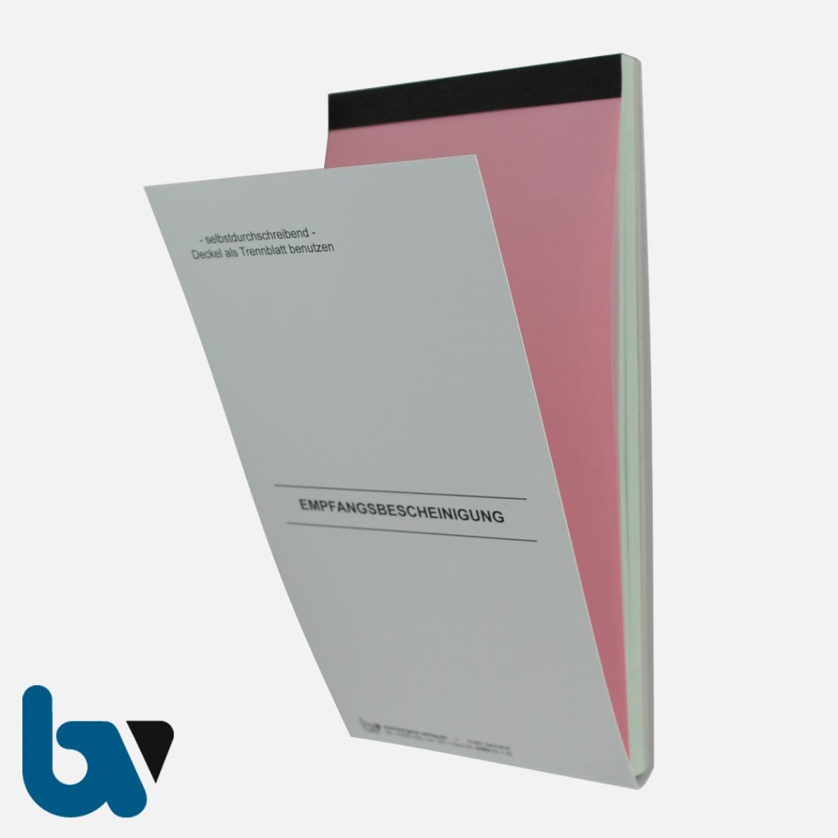0/812-1.1 Quittung Empfangsbescheinigung Vollstreckung Vollziehung Beamte Forderung selbstdurchschreibend 2-fach Schreibschutzdeckel Nummerierung fortlaufend DIN lang Vorderseite | Borgard Verlag GmbH