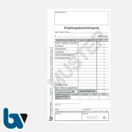 0/812-3 Quittung Empfangsbescheinigung Kasse Forderung selbstdurchschreibend 2-fach Schreibschutzdeckel Nummerierung fortlaufend DIN lang S 1 | Borgard Verlag GmbH
