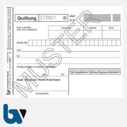 0/812-7 Quittung Empfangsbescheinigung Kasse Bar bargeldlos Zahlung Konto selbstdurchschreibend 2-fach Schreibschutzdeckel Nummerierung Fortlaufend DIN A6 S 1 | Borgard Verlag GmbH