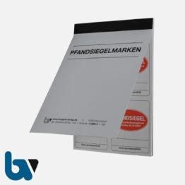 0/888-3 Aufkleber Pfandsiegel Paragraph 136 Strafgesetzbuch Siegelbruch Verstrickungsbruch Vollstreckung Beamte Pfändung selbstklebend rot Außen | Borgard Verlag GmbH