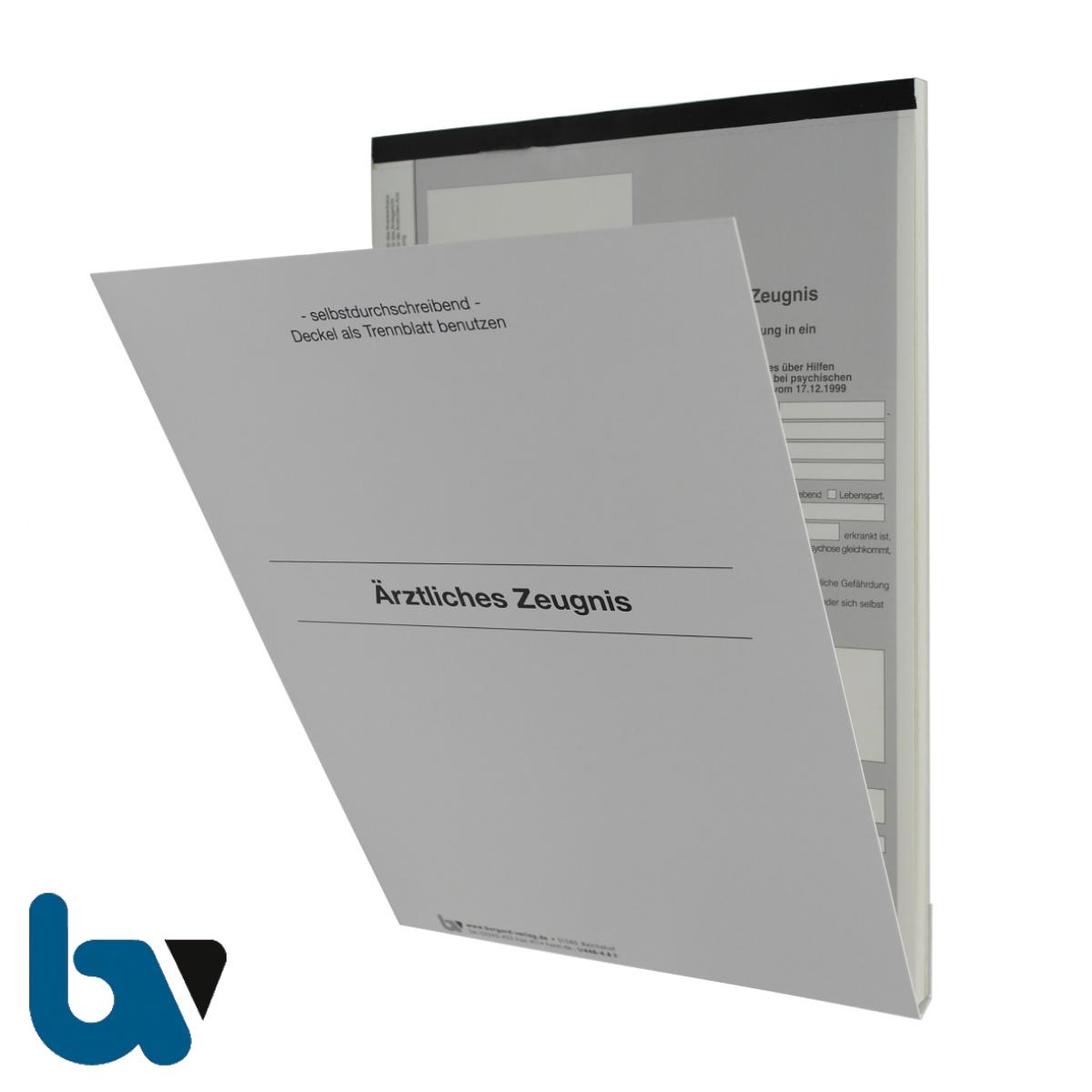 1/448-4.8 Ärztliches Zeugnis Unterbringung Krankenhaus Paragraph 14 PsychKG NRW 4-fach selbstdurchschreibend DIN A4 Außen | Borgard Verlag GmbH