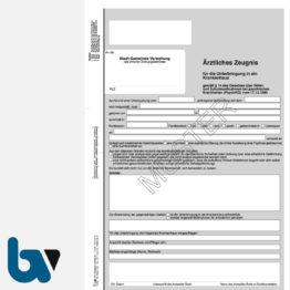 1/448-4.8 Ärztliches Zeugnis Unterbringung Krankenhaus Paragraph 14 PsychKG NRW 4-fach selbstdurchschreibend DIN A4 Vorderseite | Borgard Verlag GmbH