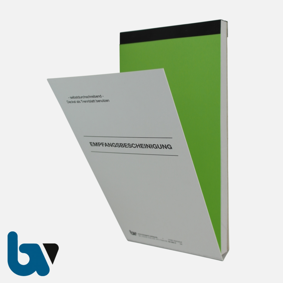 10/812-3 Quittung Empfangsbescheinigung Kasse Forderung selbstdurchschreibend 3-fach Schreibschutzdeckel Nummerierung fortlaufend DIN lang Vorderseite | Borgard Verlag GmbH