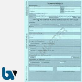 2/148-1.1 Todesbescheinigung nicht Vertraulicher Teil Rheinland Pfalz 5-fach selbstdurchschreibend DIN A4 Seite 1 | Borgard Verlag GmbH