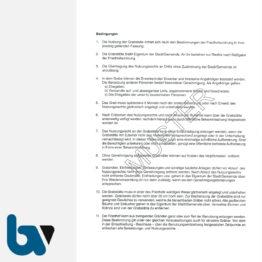 3/168-5 Urkunde Erwerb Familiengrab Grabstätte Friedhof Verwaltung 2-fach DIN A4 Rückseite | Borgard Verlag GmbH