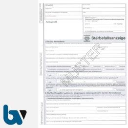 3/185-8a Sterbefallsanzeige Sterbefallanzeige Ortsgericht Hessen Muster amtlich Solo DIN A4 Seite 1 | Borgard Verlag GmbH